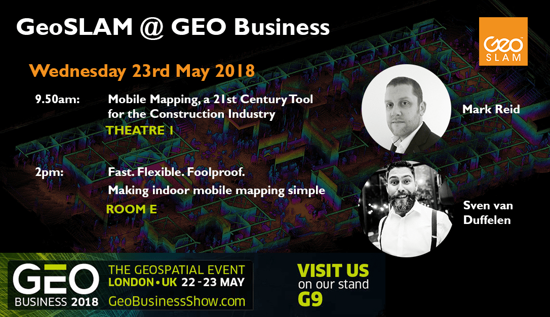 GeoSLAM to showcase the Future of Construction at Geo Business 2018
